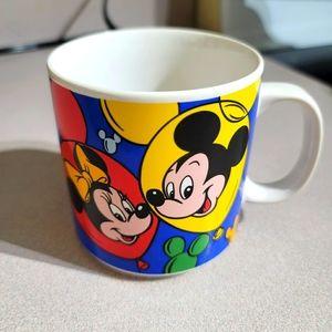 Vintage Disney Characters Mug Minnie Mickey Retro